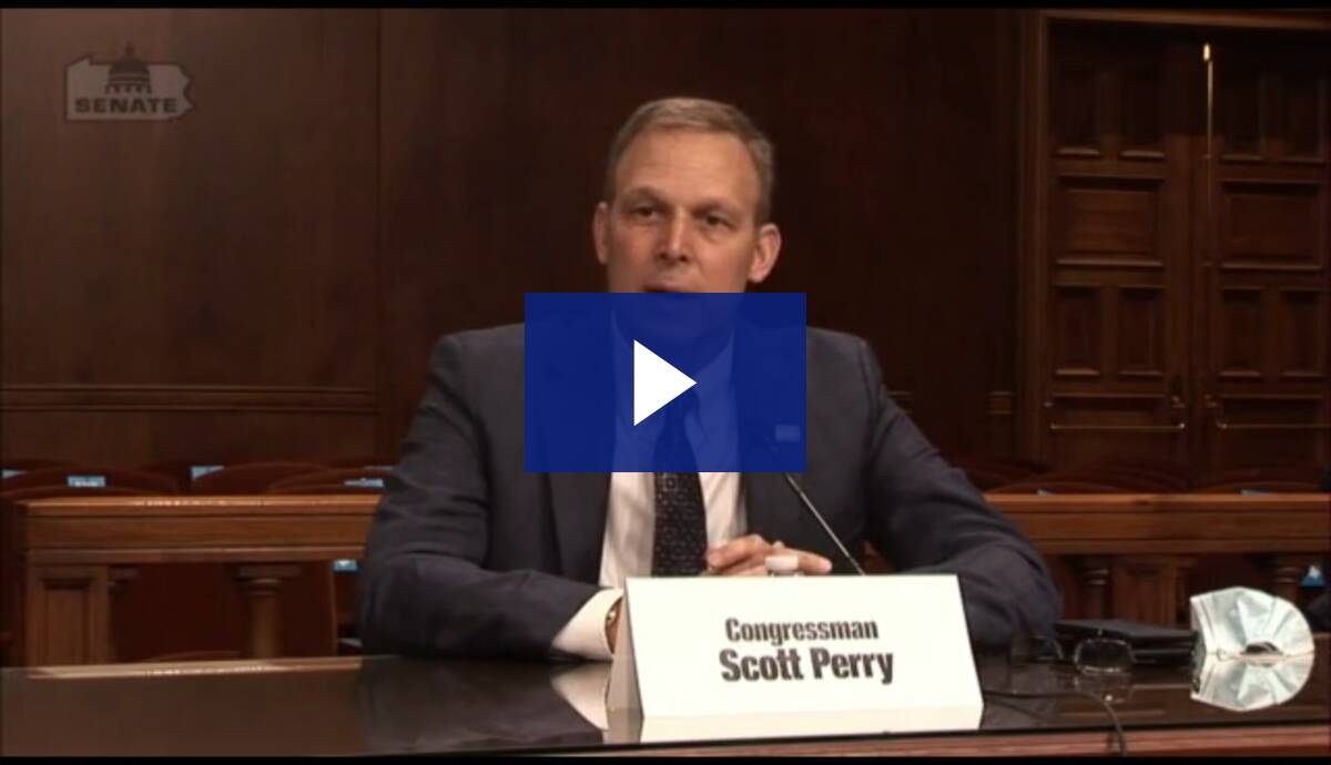 10/20/20 - Congressman Scott Perry's Opening Remarks