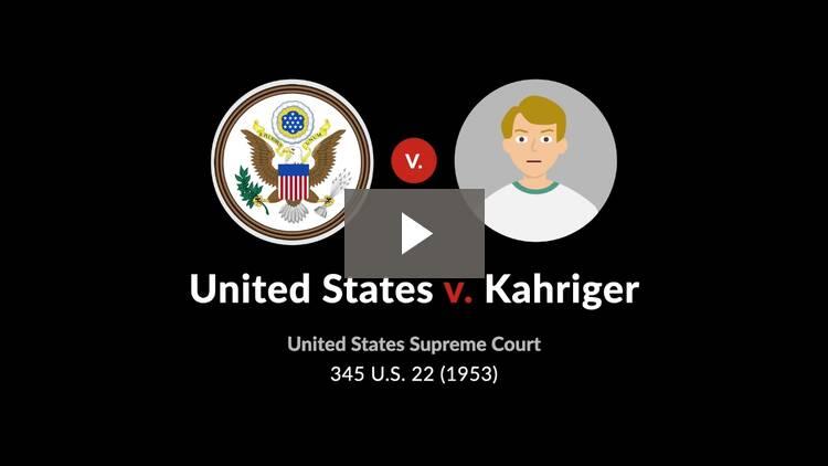 United States v. Kahriger