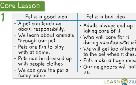 persuasive writing for how to make good pets