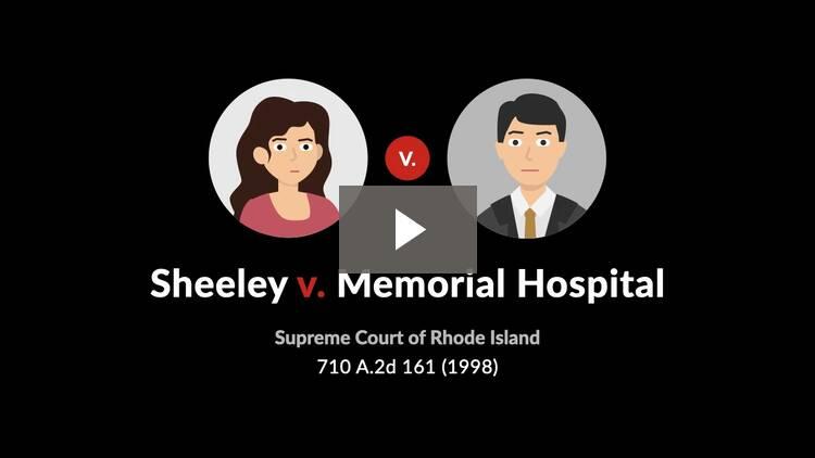 Sheeley v. Memorial Hospital
