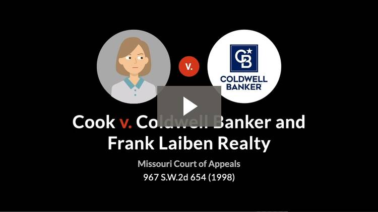 Cook v. Coldwell Banker/Frank Laiben Realty Co.