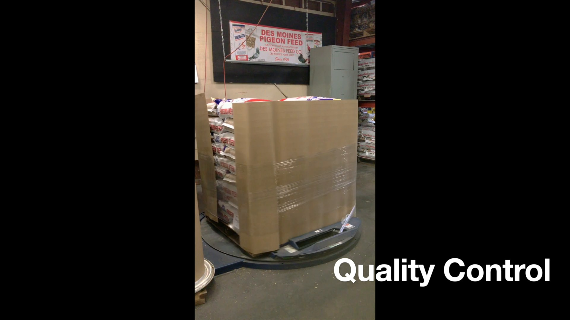 Professional pallet wrapping