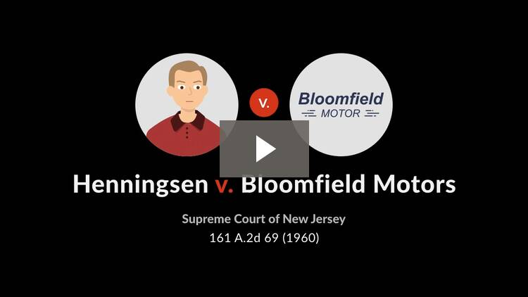 Henningsen v. Bloomfield Motors, Inc.