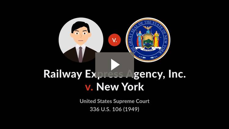Railway Express Agency, Inc. v. New York