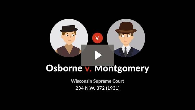 Osborne v. Montgomery