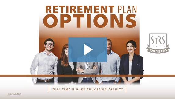 Thumbnail for the 'Retirement Plan Options: Higher Education Faculty' video.