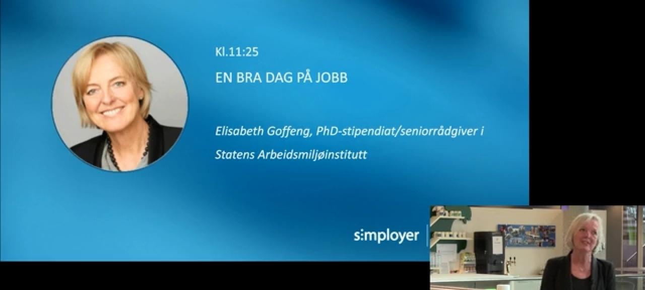 Gratis foredrag: En bra dag på jobben - sykefraværsdagen 2020