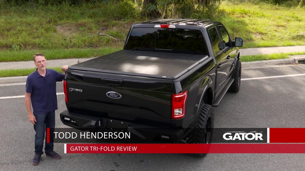 59203 Gator Tri Fold Tonneau Cover Videos Reviews