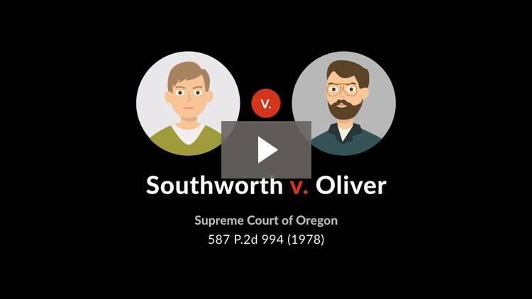 Southworth v. Oliver
