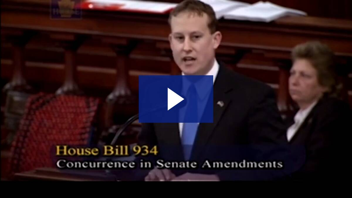 Rep Ryan Aument Voter ID Floor Remarks - March 2012
