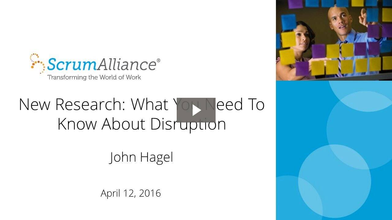 Webinar: New Research: What You Need To Know About Disruption