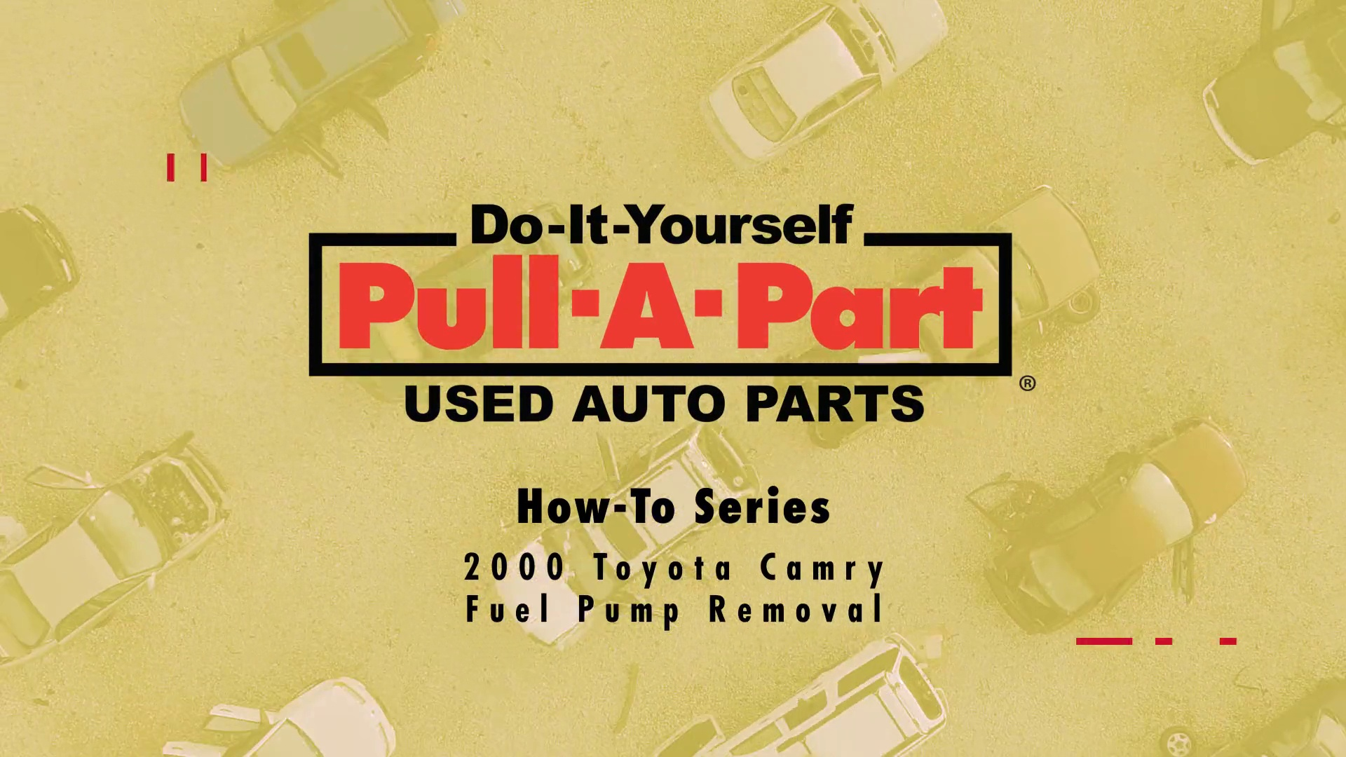 How To Remove A Fuel Pump From Toyota Camryrhpullapart: 2000 Toyota Camry Fuel Pump Location At Gmaili.net