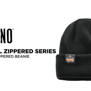 Ergodyne Product Video - N-Ferno<sup>®</sup> 6811ZI Zippered Rib Knit Beanie Hat (Bump Cap Included)