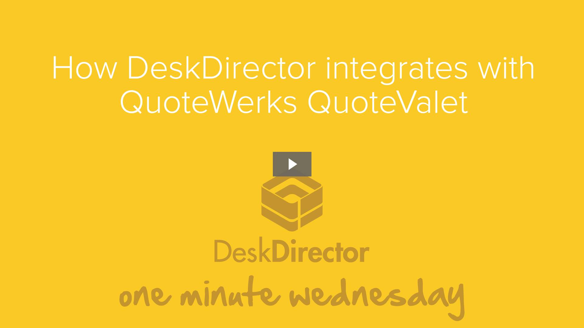 How DeskDirector integrates with QuoteWerks