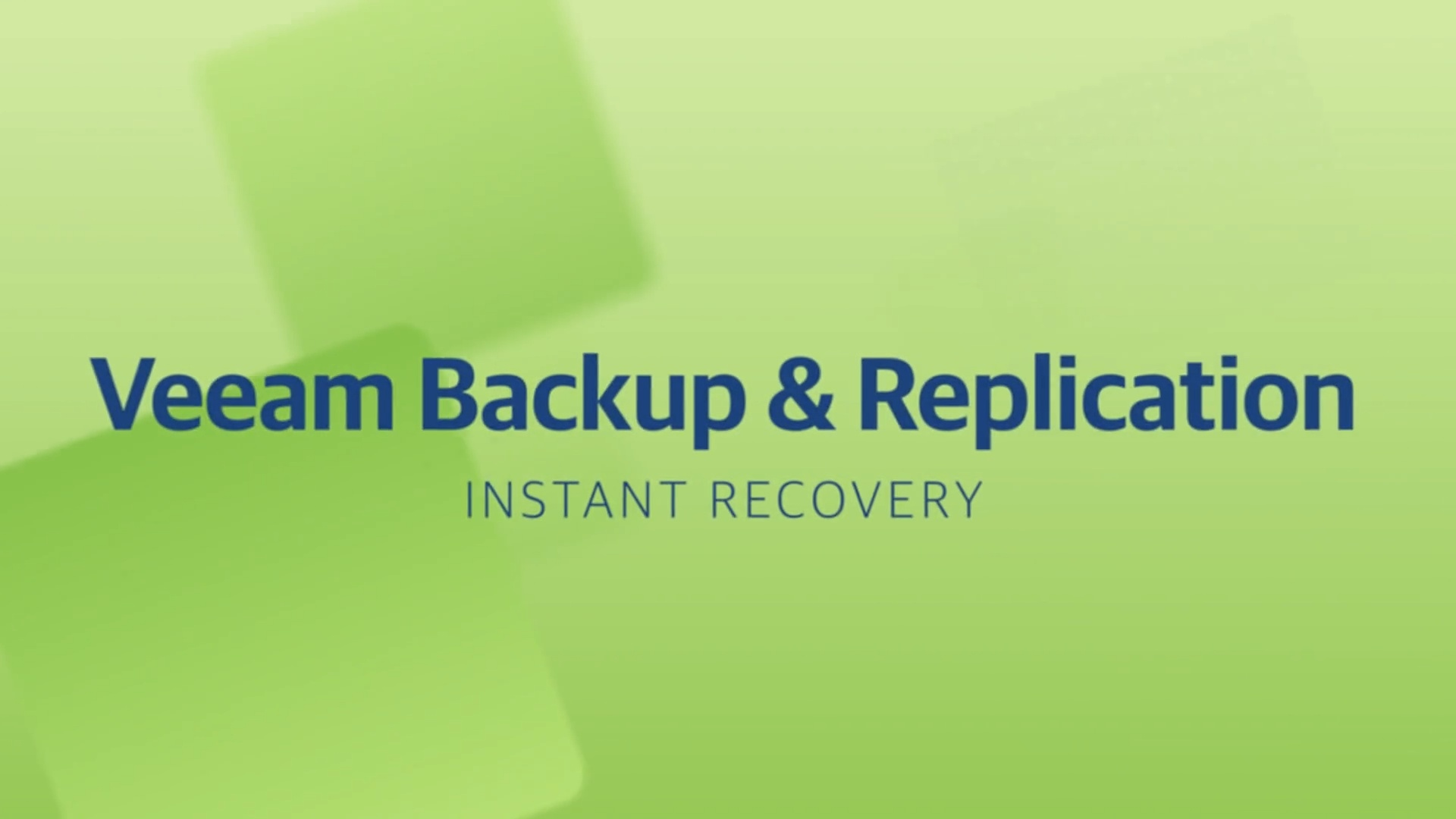 Product launch v11 - VBR - Instant Recovery