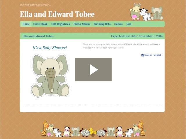 virtual baby shower sites by web baby shower