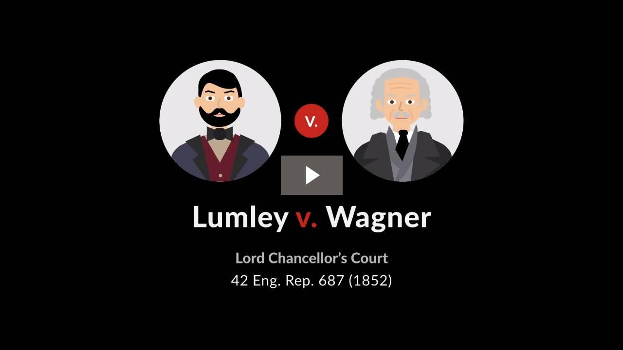 Lumley v. Wagner