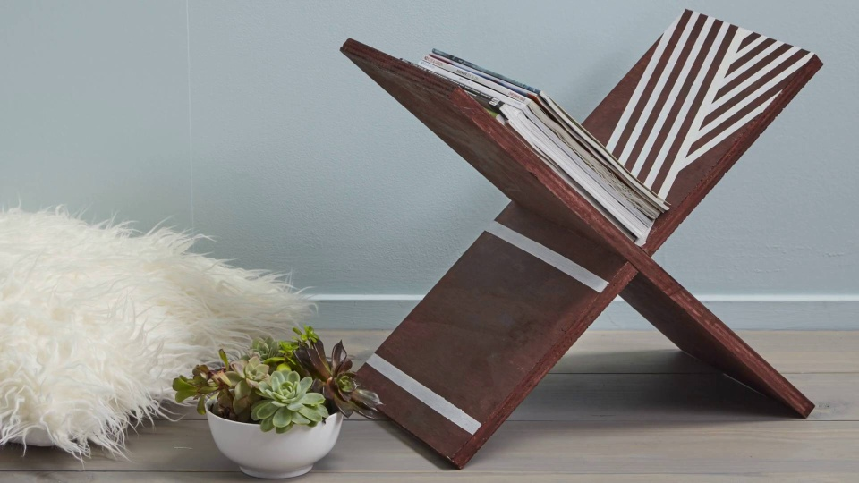 Habitat TV Video: Scandi-inspired magazine rack