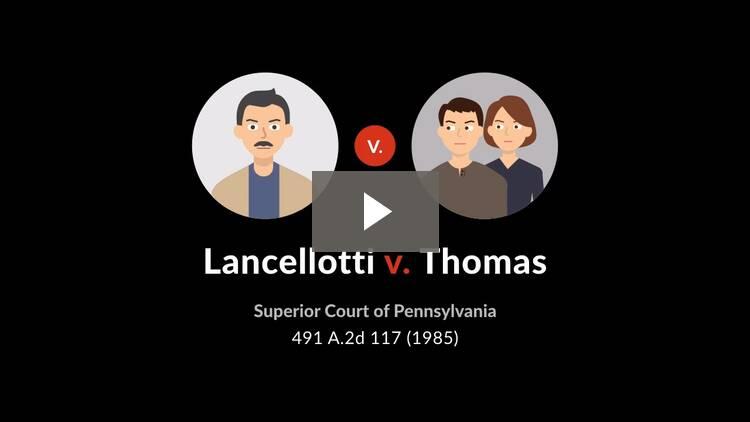 Lancellotti v. Thomas