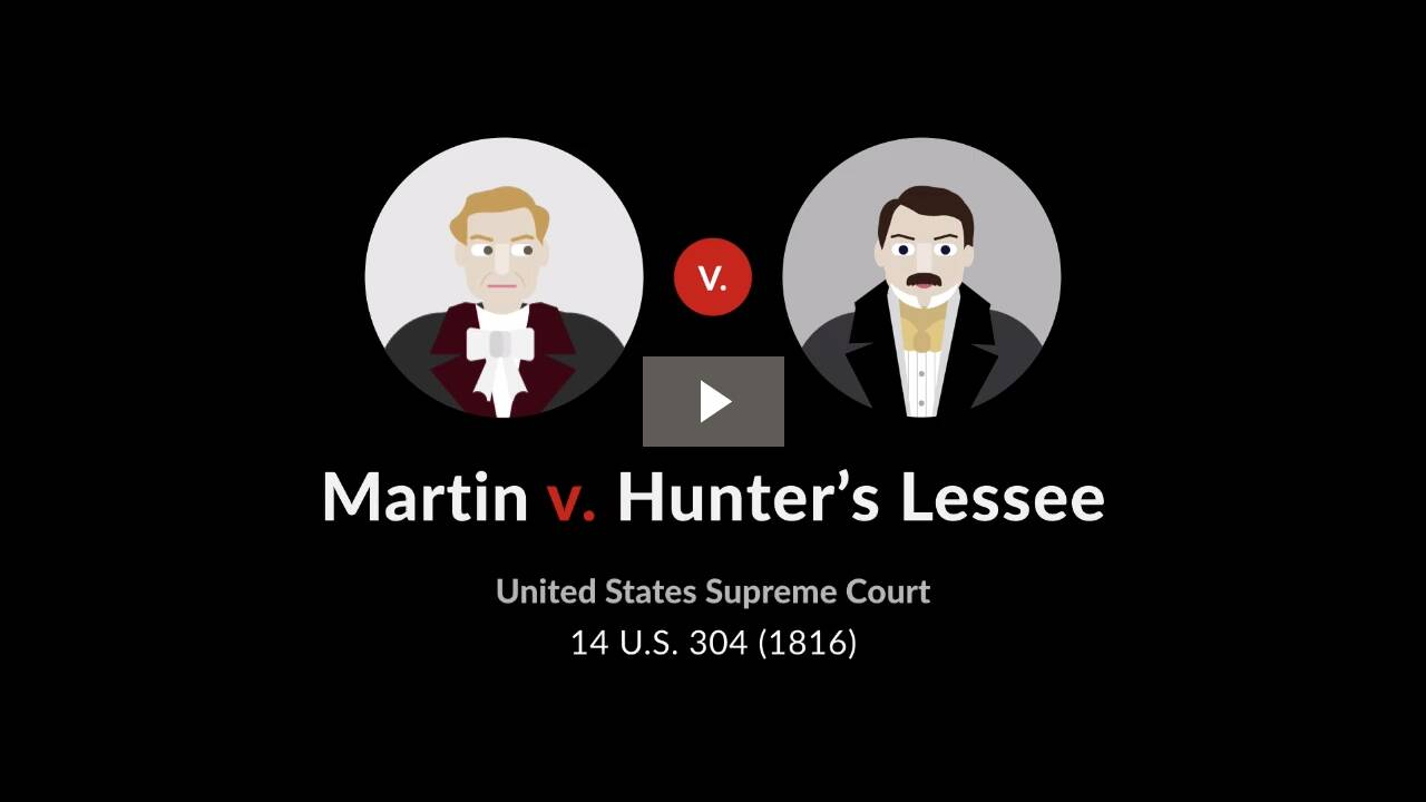 Martin v. Hunter's Lessee