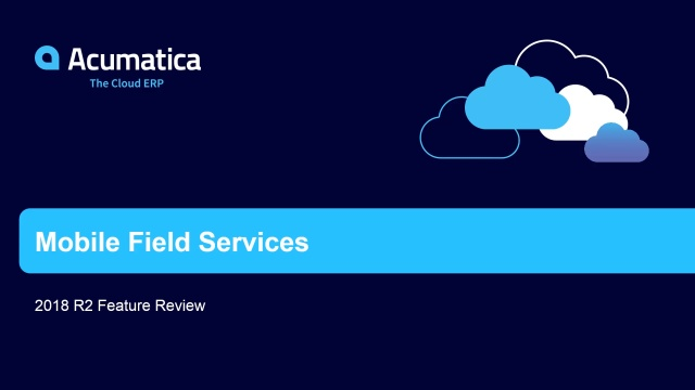 2018 R2 Mobile Field Services