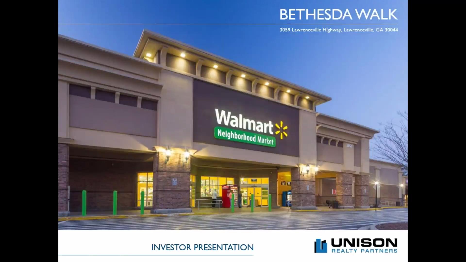 Investment Video - Bethesda Walk Shopping Center
