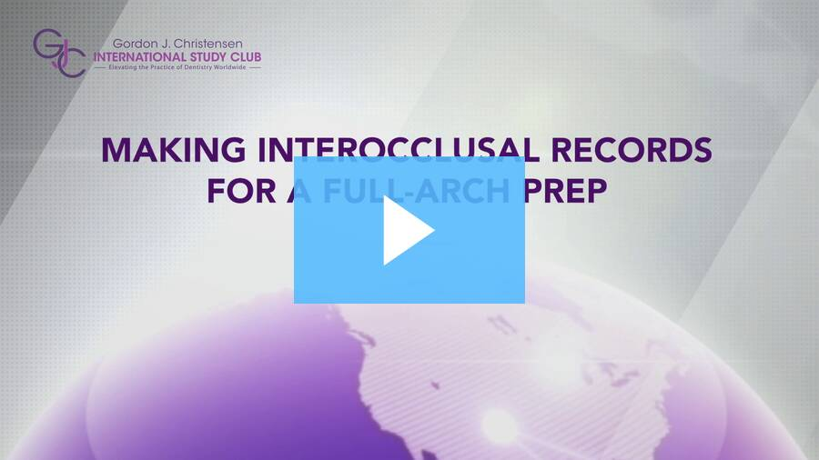 Q270_Making interocclusal records for a full-arch prep