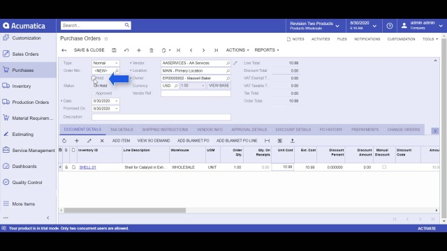 eWorkplace Apps QMS – Purchasing
