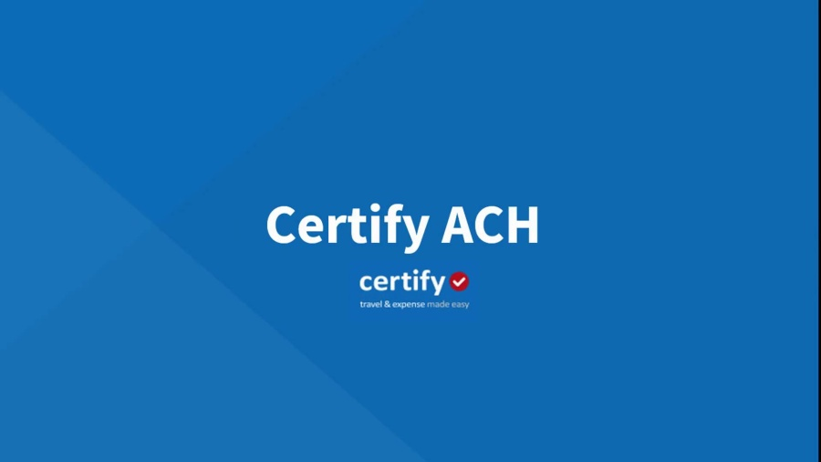 Certify ACH