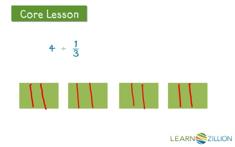 Divide whole numbers by unit fractions using a model learnzillion ccuart Gallery