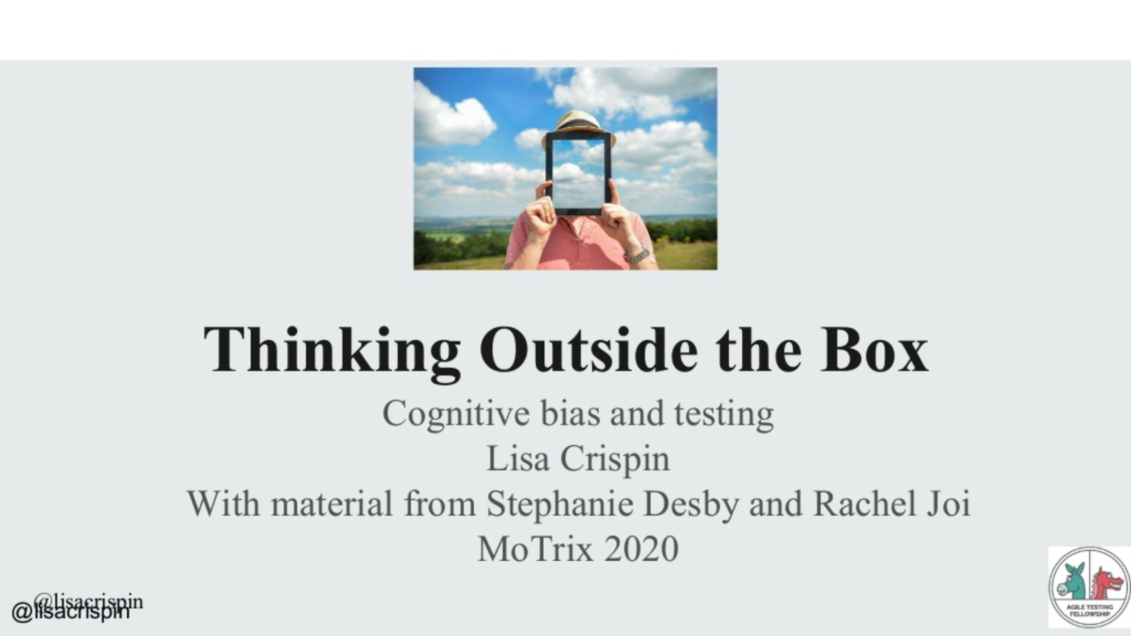 Thinking Outside the Box with Lisa Crispin