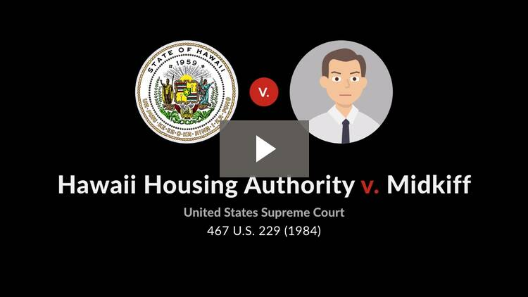 Hawaii Housing Authority v. Midkiff