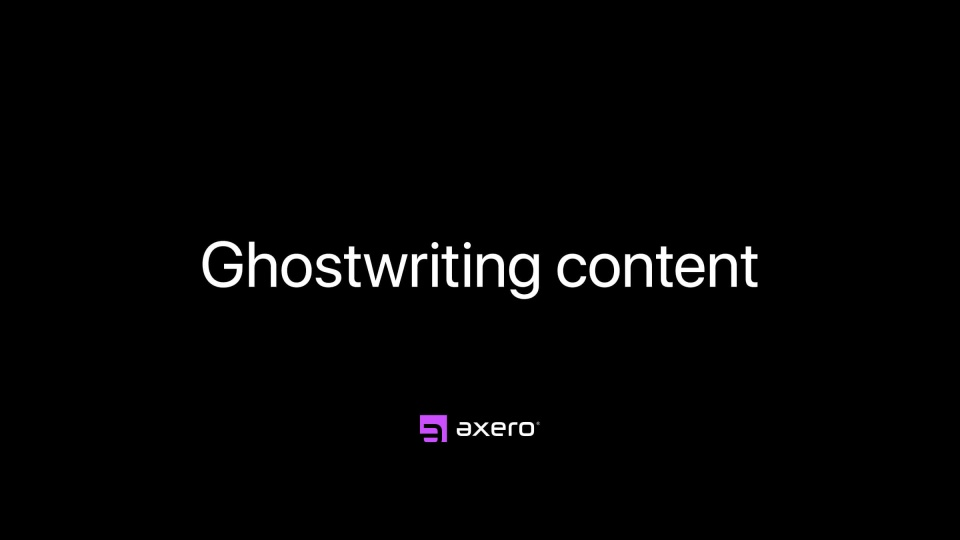 Ghostwriting content