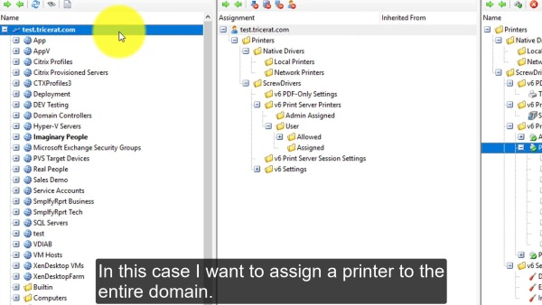 Simplify Printing - Assigning Printers in Console