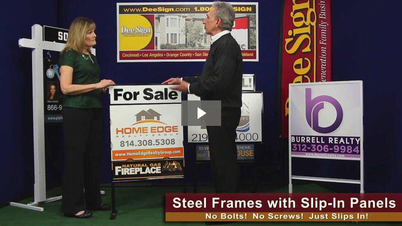 Real Estate Signs + Frames with Slip-in Panels