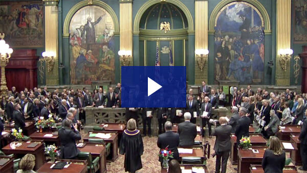 1/3/17 - Swearing In of Senate Republican Members