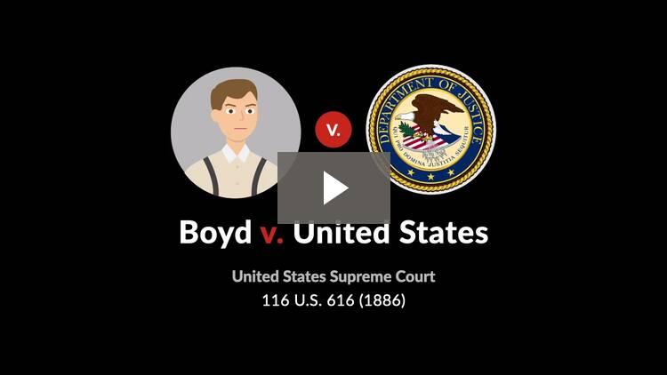 Boyd v. United States