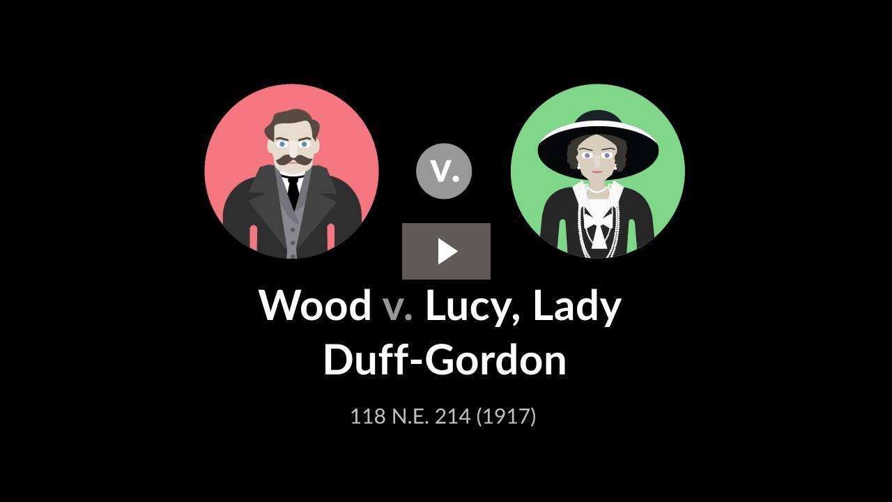 Wood v. Lucy, Lady Duff-Gordon
