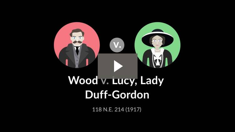 Wood v. Lucy, Lady Duff-Gordon