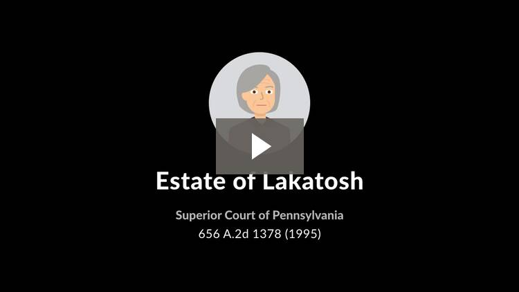 Estate of Lakatosh