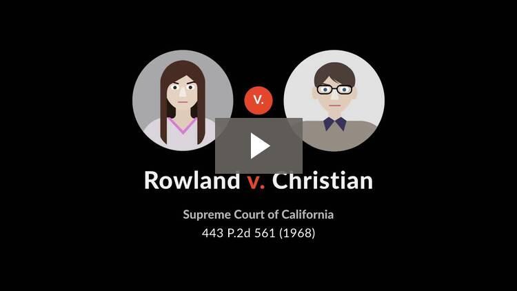 Rowland v. Christian