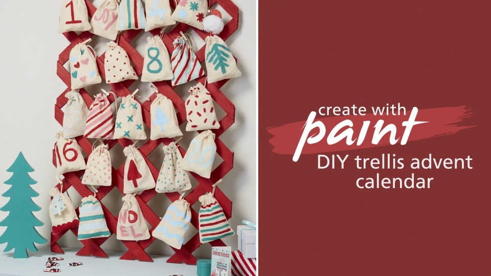 Habitat TV Video: DIY trellis advent calendar