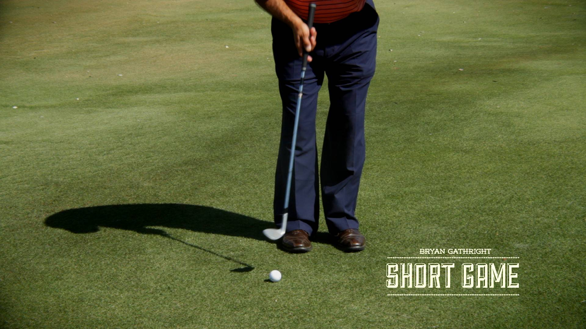 Correct Technique for Low Running Wedge Shots