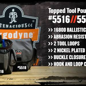 Ergodyne Product Video - Arsenal<sup>®</sup> 5518 Topped Tool Pouch - Loop Attachment