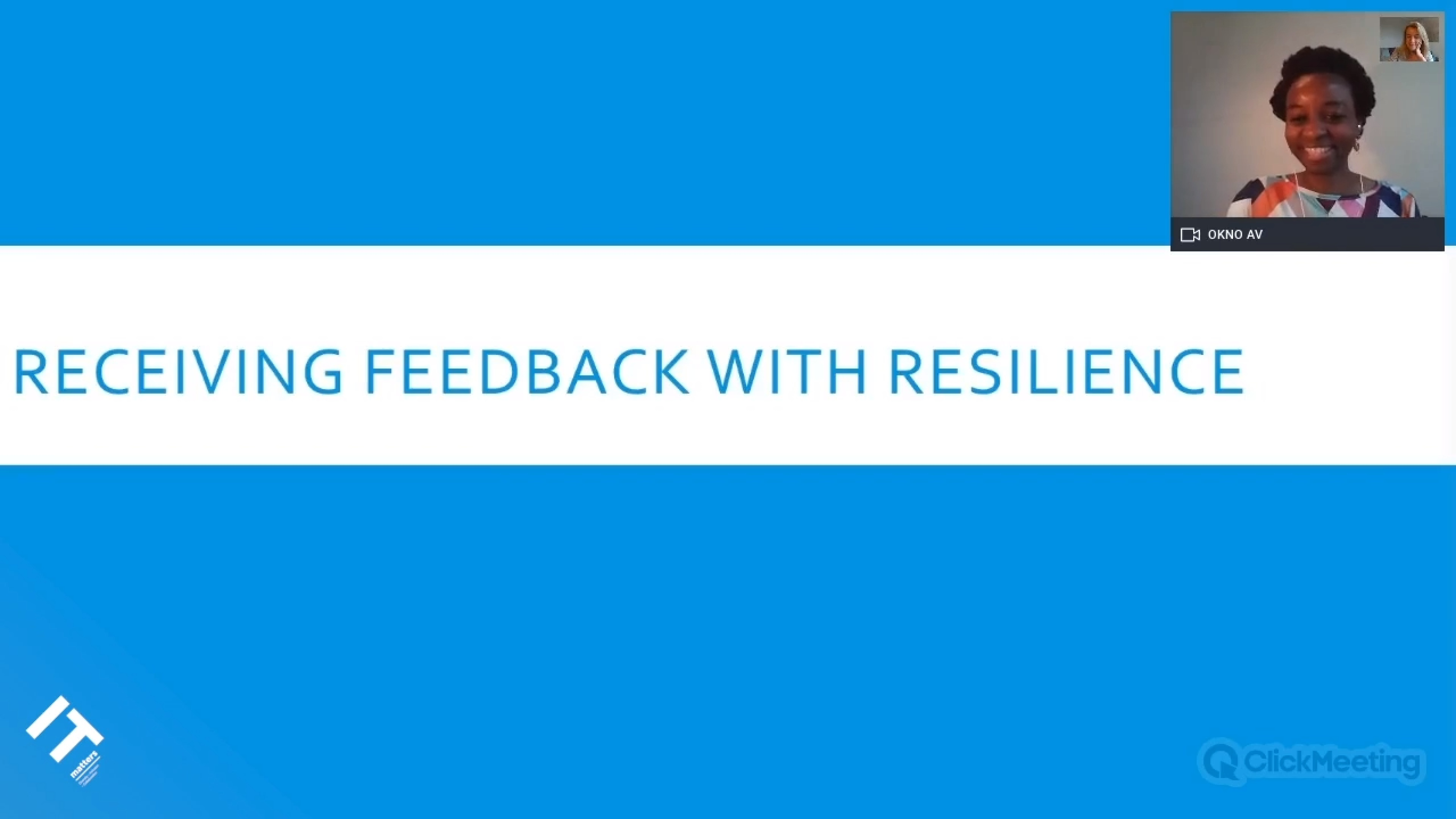 Receiving Feedback With Resilience - Crystal Onyeari Mbanefo
