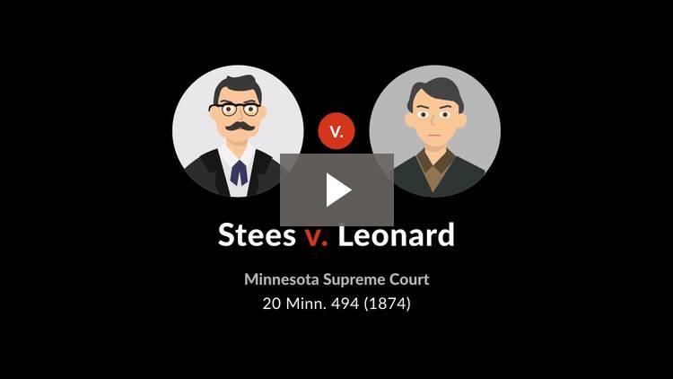 Stees v. Leonard