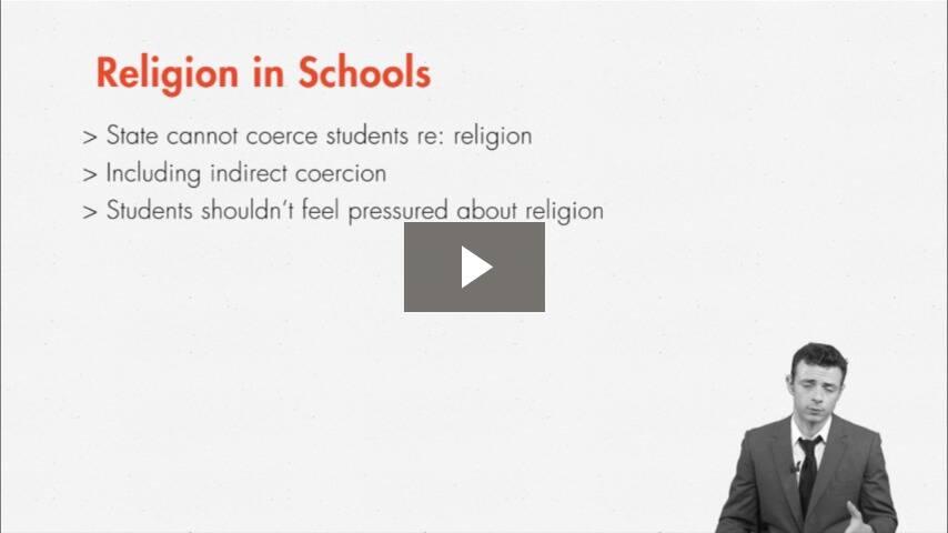 Endorsement of Religion in Public Schools