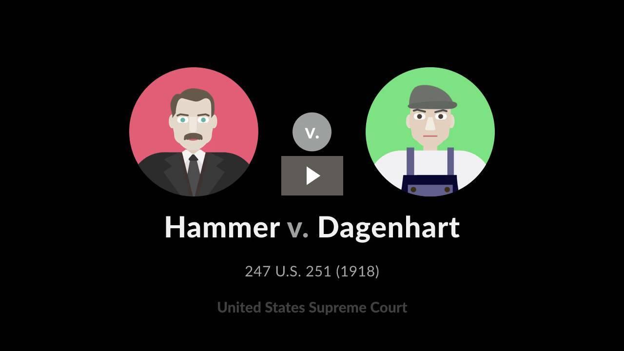 Hammer v. Dagenhart