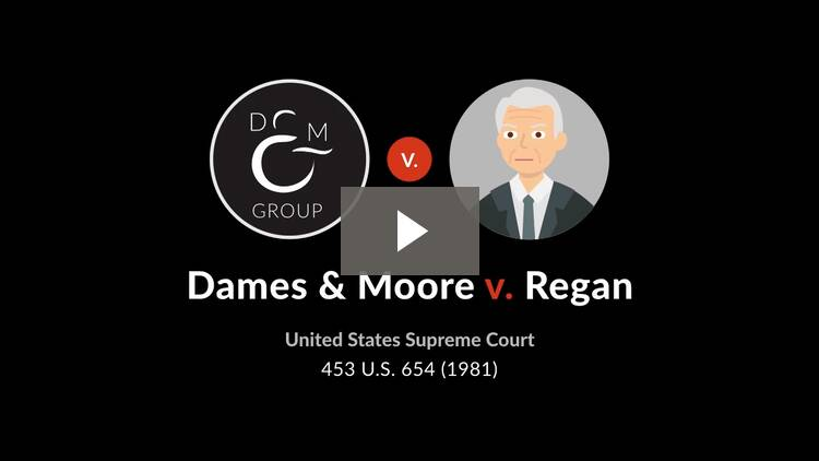 Dames & Moore v. Regan, Secretary of the Treasury
