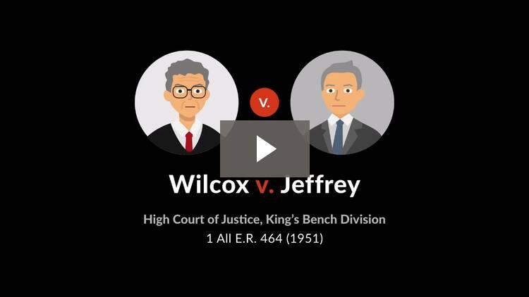 Wilcox v. Jeffery